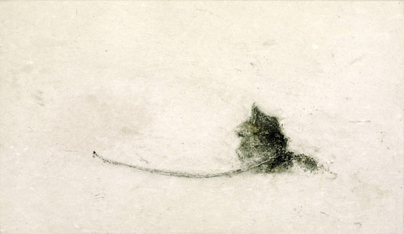 Feuille. Leaf / Tempera sur toile. Tempera on canvas. 24x41 cm. 2010